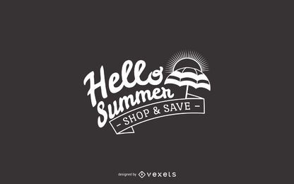 Hello summer sale sign