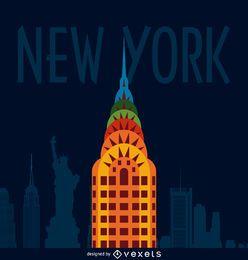 Cartel de ilustración de la ciudad de Nueva York