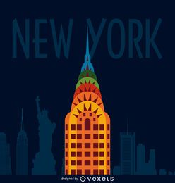 New York City Abbildung Poster