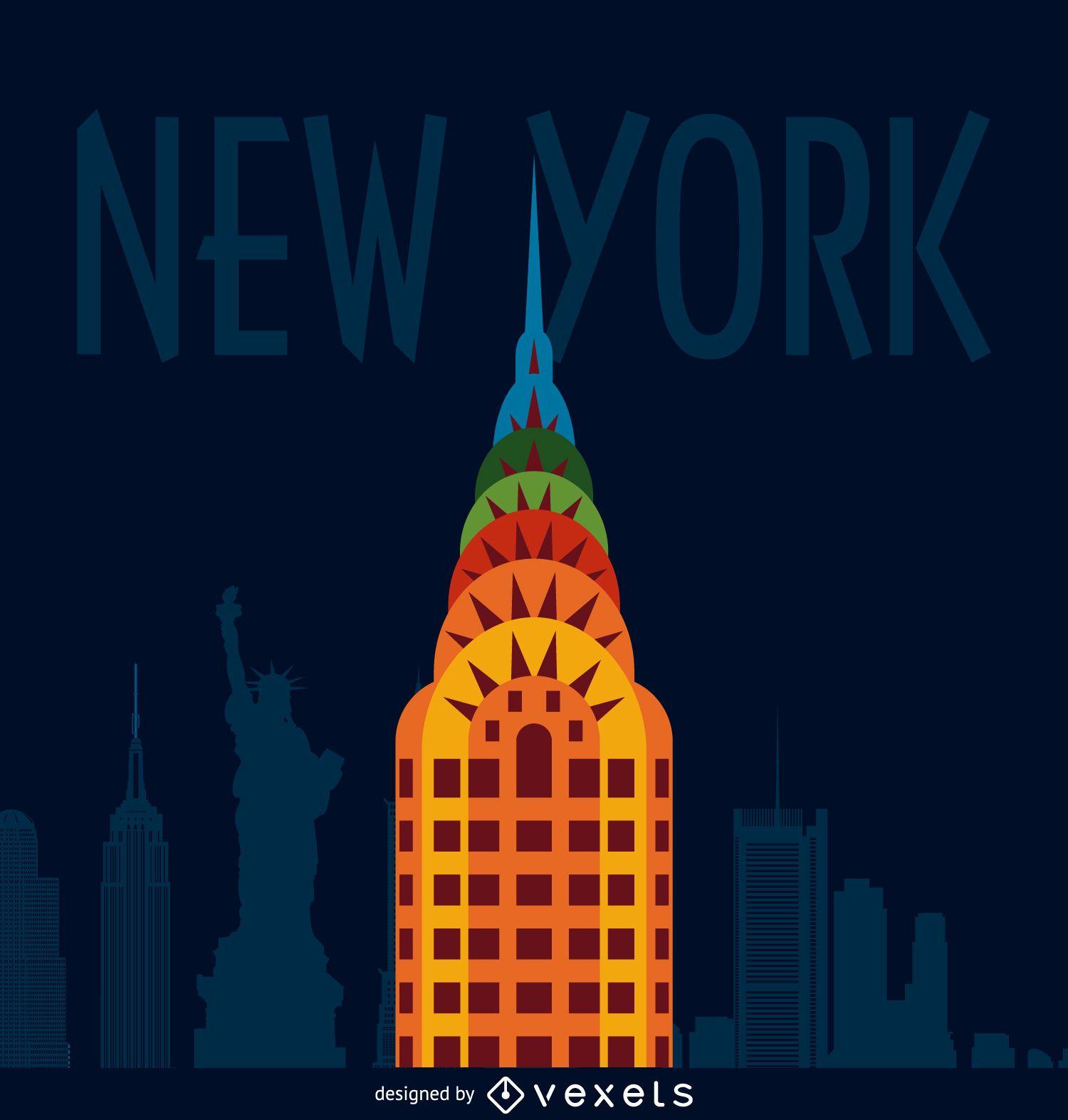 New York City illustration poster