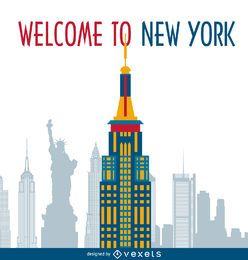New York cartões postais