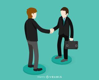 Ilustración de apretón de manos de negocios