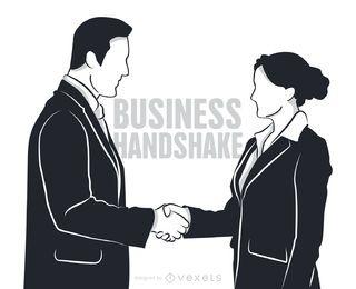 Hombre y mujer dándose la mano