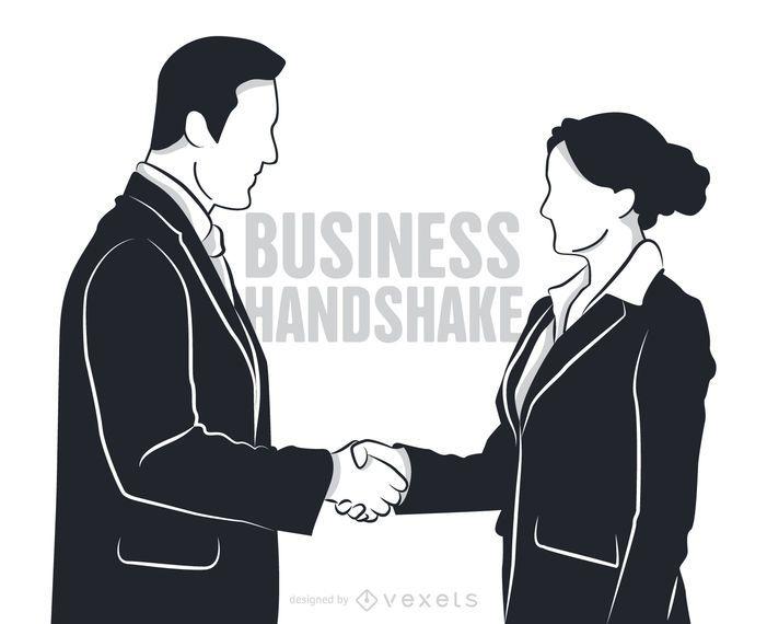 Homem mulher, apertar mão