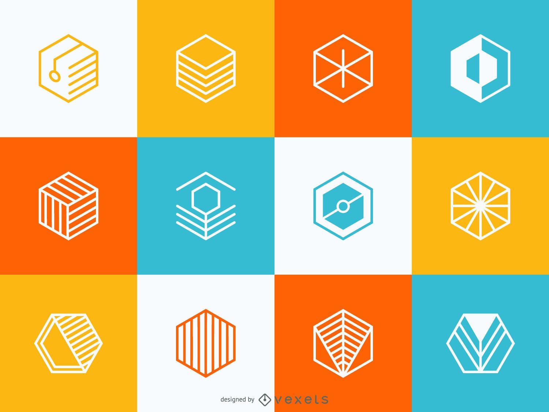Geometric logo set - Vector download