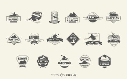 Rafting logo badge set