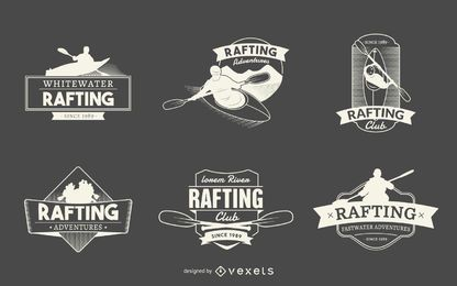 Rafting logo label collections