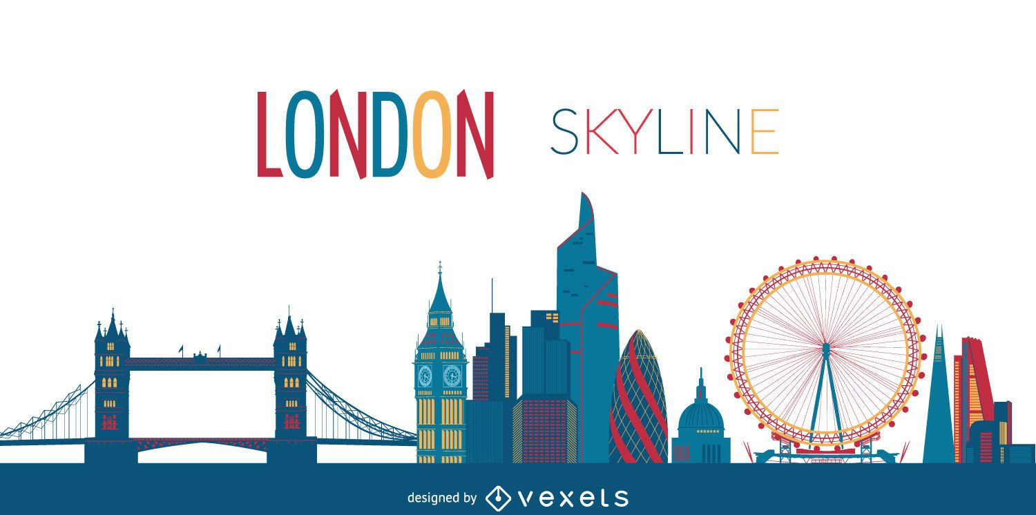 london city skyline vector download. Black Bedroom Furniture Sets. Home Design Ideas