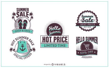 Summer sale discount labels