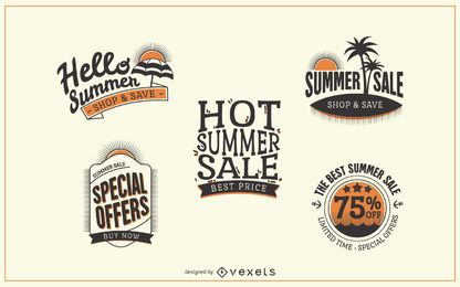 Hipster summer sale label badges