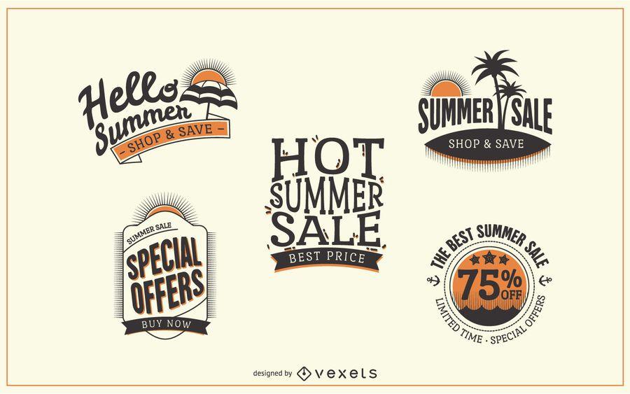 Hipster summer sale label badges