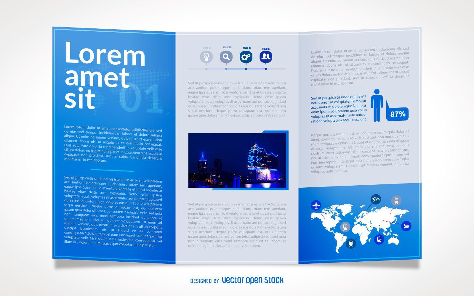 brochure vector graphics to download
