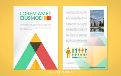 Maquete de brochura brilhante