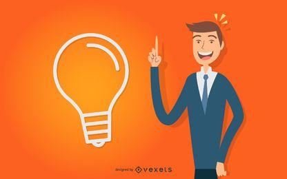 Desenho do homem de ideias