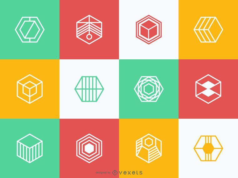 Colección de plantillas de logotipo poligonal