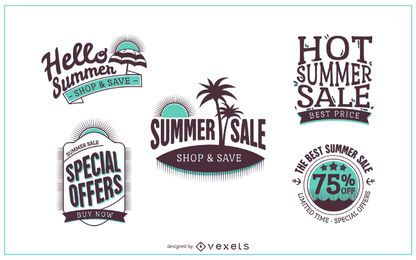 Summer sale badge logo template