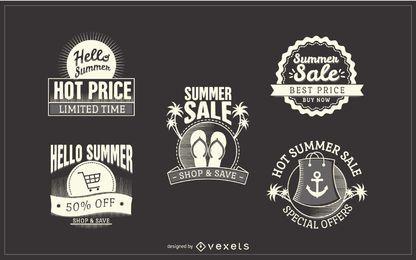 Adesivos de venda de verão hipster