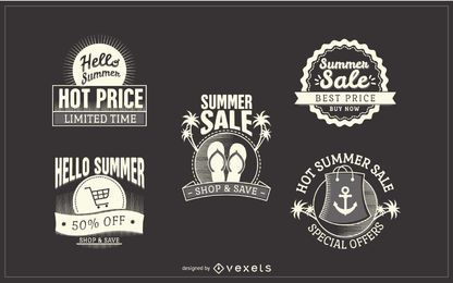 Hipster summer sale stickers