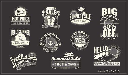 Pegatinas de venta de verano de hipster