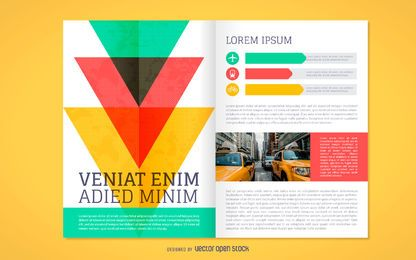 Colorful brochure mockup