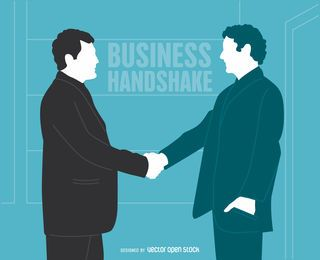 Businessmen handshake illustration