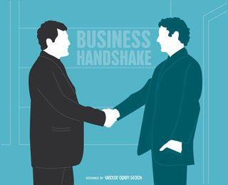 Ilustración de apretón de manos de hombres de negocios
