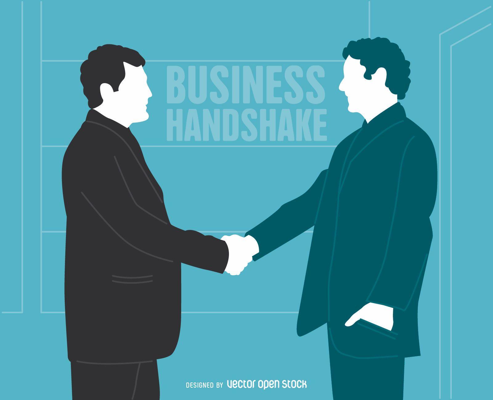 Businessmen handshake illustration
