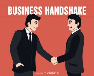 Men shaking hands illustration