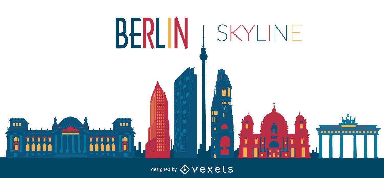 berlin skyline illustration vector download. Black Bedroom Furniture Sets. Home Design Ideas