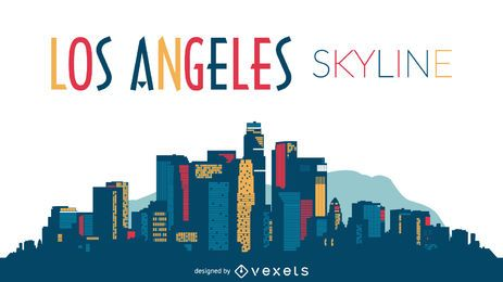Los Angeles skyline silhueta design