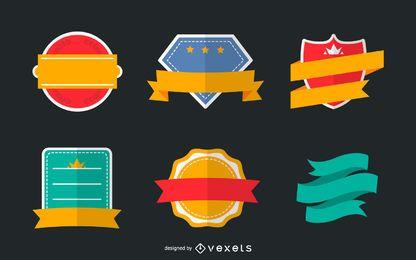 Logo badge set