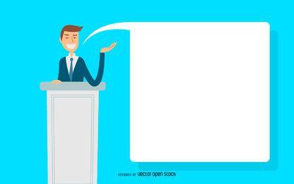 Ilustração de discurso de homem de negócios