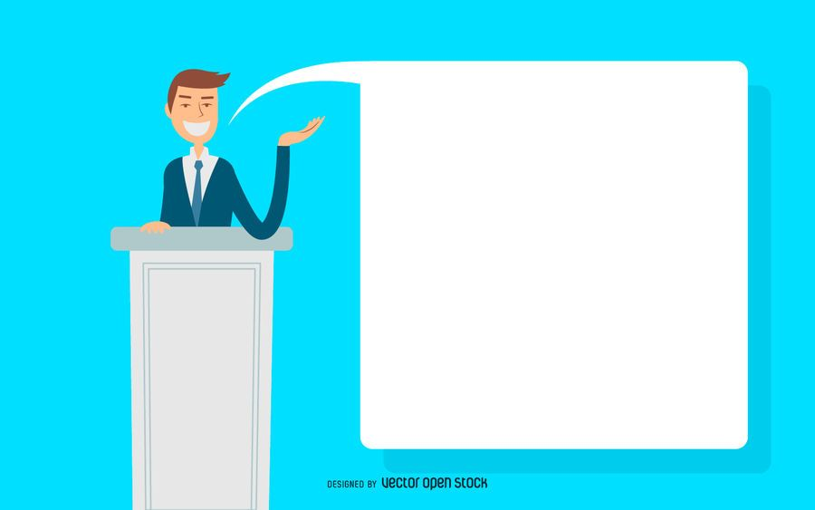 Business man speech illustration