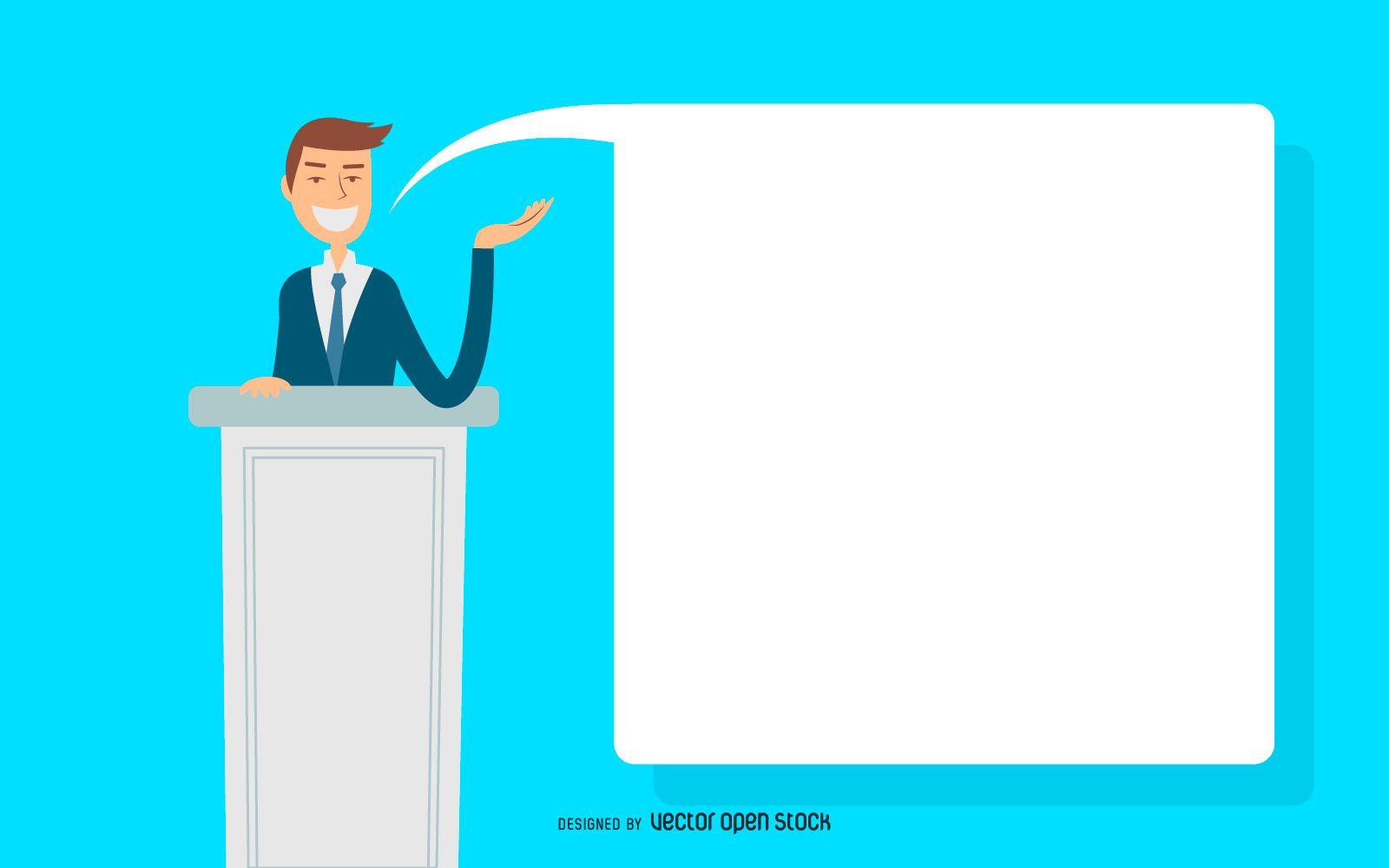 Ilustración de discurso de hombre de negocios