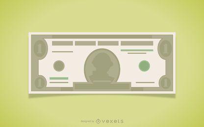 Ilustración billete de un dólar