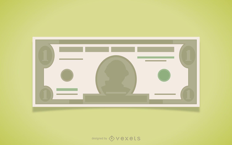 Dollar bill illustration