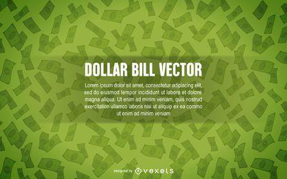 Fondo del billete de un dólar