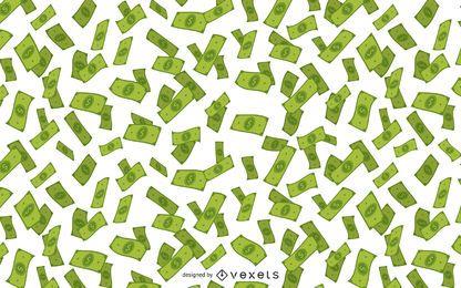 Fallende Abbildung des Geldes