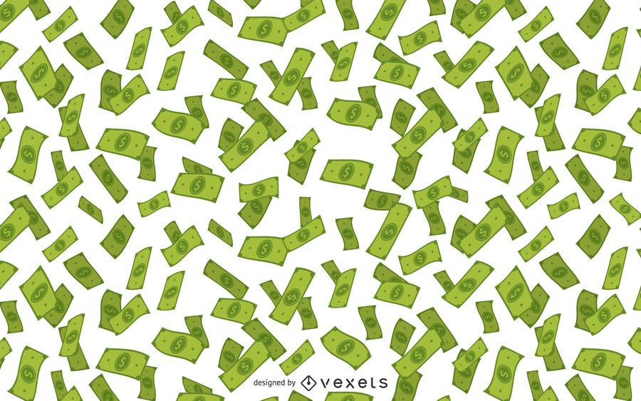 Money falling illustration