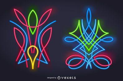 Künstlerischer Neon-Nadelstreifen