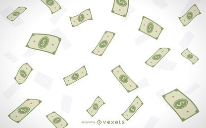 Dinheiro caindo ilustrado