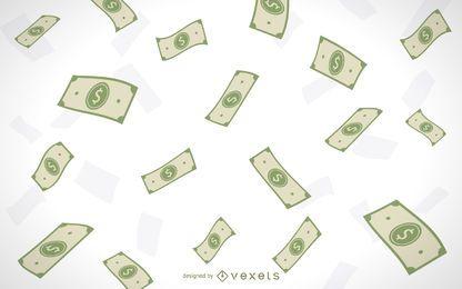 Ilustrado dinero que cae