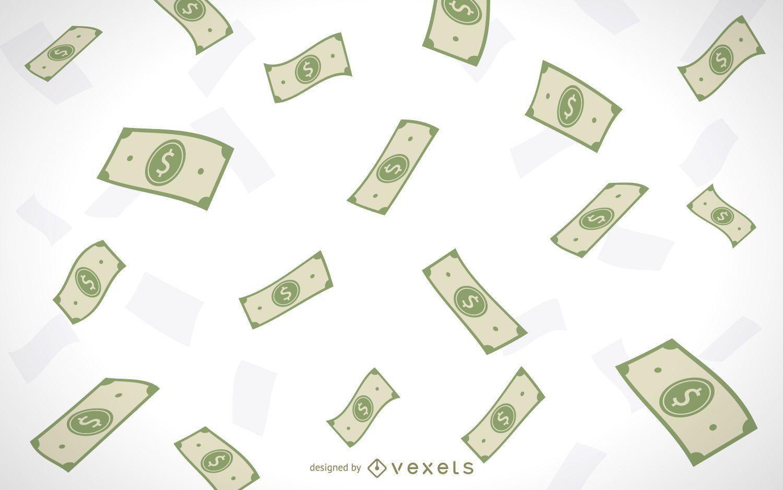 Dinero cayendo ilustrado