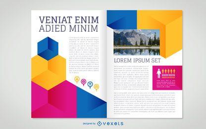 Flat brochure template