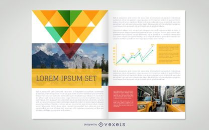 Flat brochure mockup template