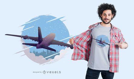 Design de t-shirt de avião