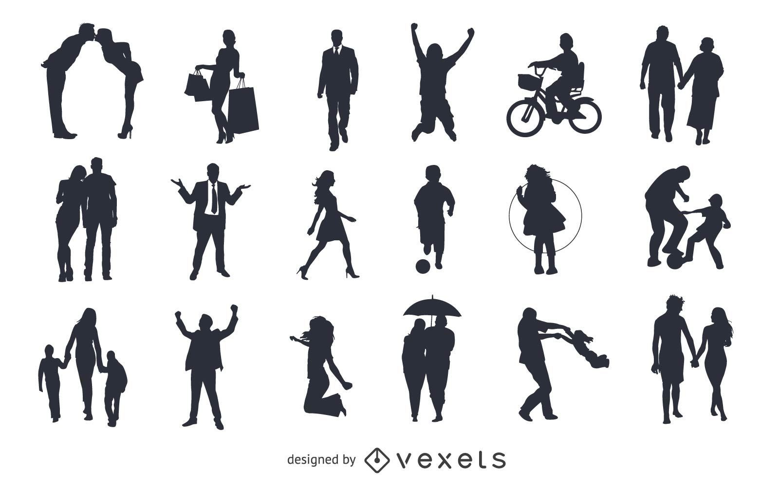 Vector Pack siluetas figuras