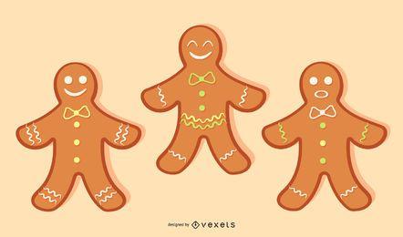 Vetor de biscoitos de gengibre