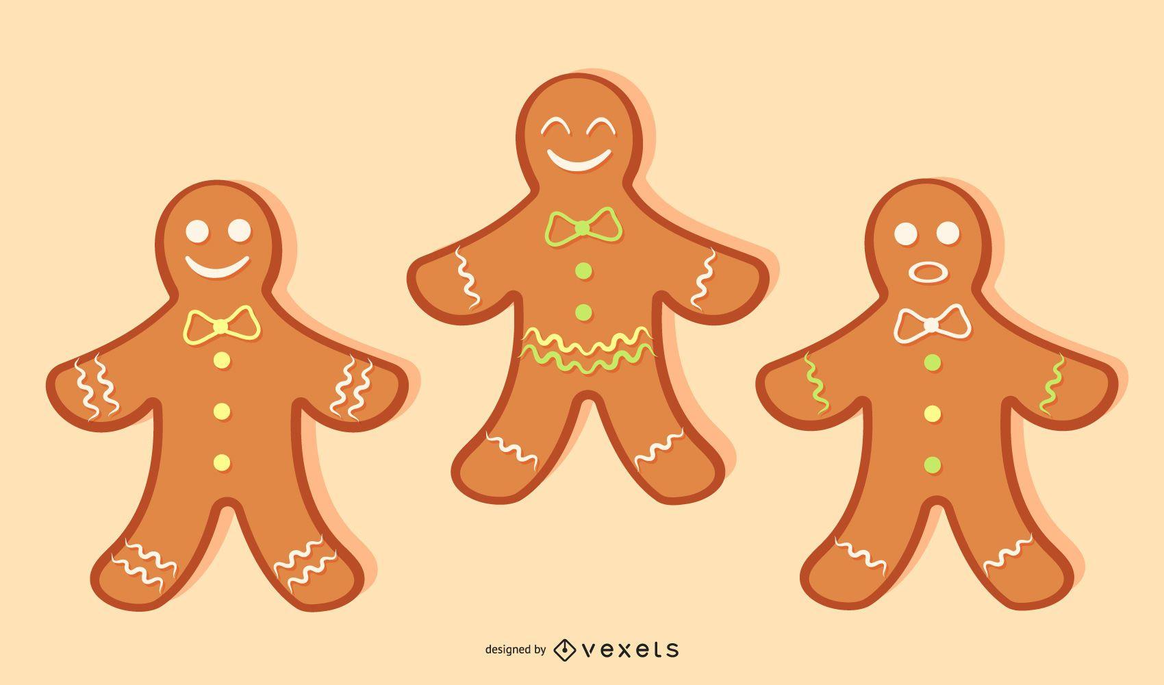 Vector de galletas de jengibre