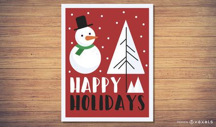 Holiday Greetings E-Card Vector